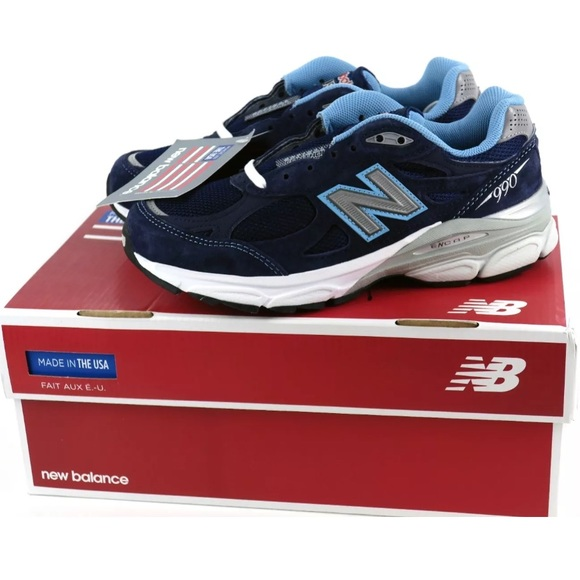 online store face4 b318f New Balance 990 Heritage Blue Suede USA Sneakers NWT